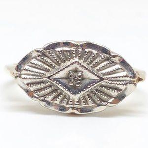 10k Gold Vintage Diamond Statement Ring Size 6